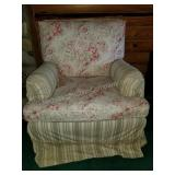 Beautiful Multi Floral and Striped Sofa Chair