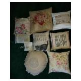 Group of 9 Different Throw Pillows