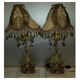 "Pair of  20"" Kathleen Caid Table Lamps"