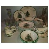 75 Pieces of SPODE England Christmas Tree China