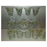 Hand Painted Holiday Cheer Drinking Glasses