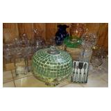 Cake Plate, Crystal, Glassware & Placemat Group