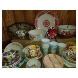 Assortment of Burst of Color Servingware