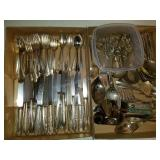 Large Assortment of Silver Plate Flatware