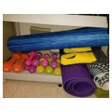 Exercise Weights, Swimming Flippers & Workout Mats