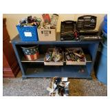 Assorted Tools, Power Inverter & Wood Shelf