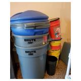 Brute Garbage Cans with Lids and More