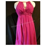 Verty Hot Pink Button Back Cocktail Dress - Small