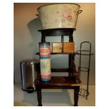 Whatnot Shelf, Decorative Tin, Waste Can and More