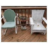 Outdoor Chairs, Planter & Stars & Moon Fire Pit