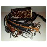 Group of 9 Belts including Designer Belt
