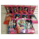 Group of 12 Barbie Dolls