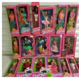 Group of 18 Barbie Dolls