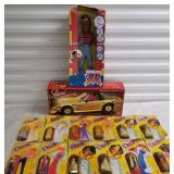 Group of Dazzle Figurines, URKEL Doll and Shani Corvette