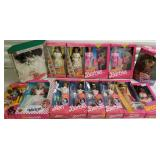 Group of 14 Barbie and Ken Dolls