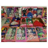 Group Lot of 20 Barbie and Ken Dolls