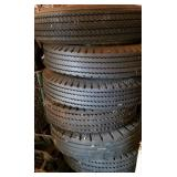 Group of 7 Boat Trailer Tires with Good Rubber