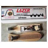 Lazer Hand Ice Auger and Fish Fillet Boards