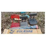 Fishing Group: Ice Auger and Boating Chairs
