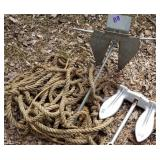 Pair of Fluke and Navy Boat Anchors