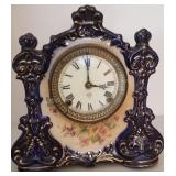 Early 20th Century Ansonia Porcelain Mantel Clock
