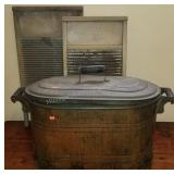 Antique Copper Wash Tub with Wash Boards