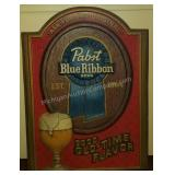 Pabst Blue Ribbon Beer Promo Sign