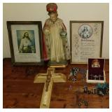 Christianity Group with Statues and Rosary