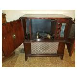 Victrola Radio and Turntable Cabinet