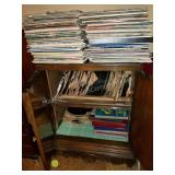 Stacked & Packed Cabinet of Victor Records etc.