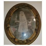 1912 Communion Girl Original Image and Frame