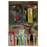 Large Assortment of Jigging Spoons and Jigs