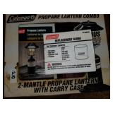 Coleman 2-Mantle Propane Lantern with Case