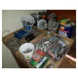Fishing Supplies Group: Sinker Molds, Hooks etc.