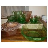 ADDED TODAY!!  Depression Glass etc. Group