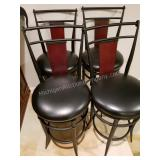 Group of 4 High Back Bar Stools