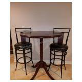 Pub Pedestal Table with High Top Chairs