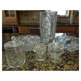 Beautiful Group Lot of Cut Glass Crystal