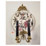Pair of Decorative Candle Wall Plates