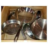 Emeril, Revere Ware etc. Pots and  Pans Group