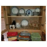 Carriage House Plates, Wine Glasses, Dish Linens
