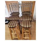 Set of 4 High Top Island Chairs & 2 Stools
