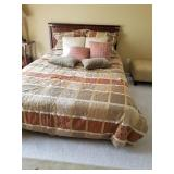 Beautiful Full Bed with Bedspread and Mattress