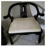 Black Lacquer Dressing Chair