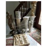 Group of Plant/Sculpture Stands, Statues and More