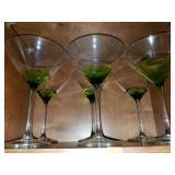 Group Lot of Unique Martini Glasses