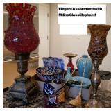 Ornate Decorators Group with Mdina Glass Elephant!
