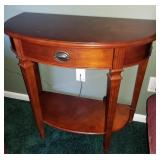 Attractive Half Moon Wall Table with Drawer