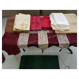 Quality Table Linens, Mantle Drape, Runners etc