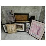 Group of Framed Art and Picture  Frames